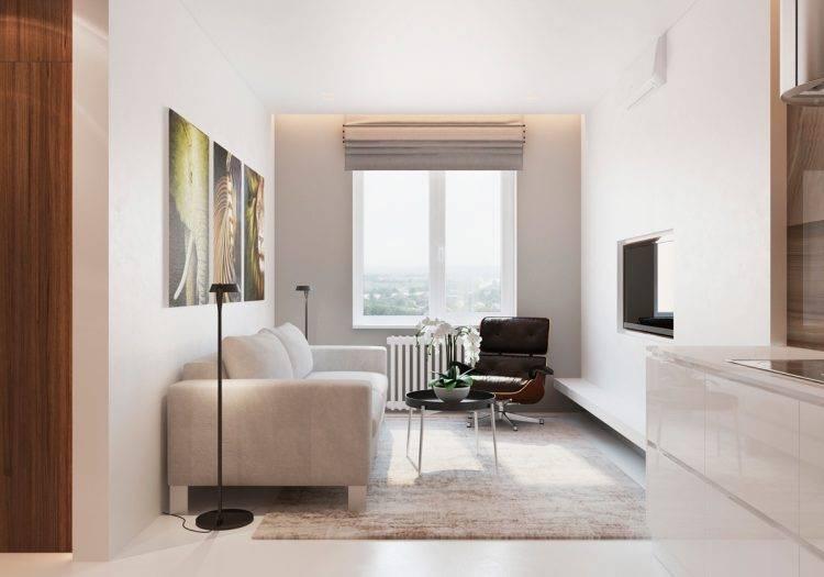 Дизайн однокомнатной квартиры 35 кв. м. 5 фото – проектов