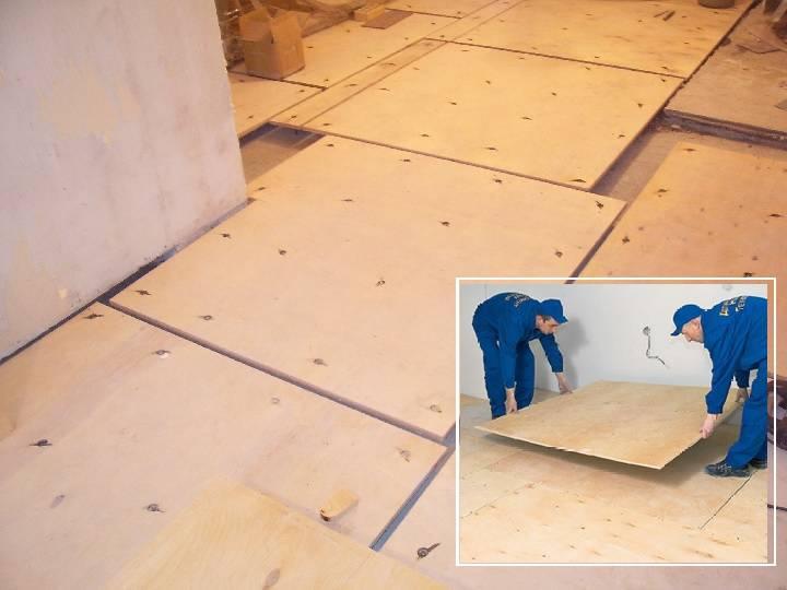 Правила укладки фанеры на деревянный пол под линолеум