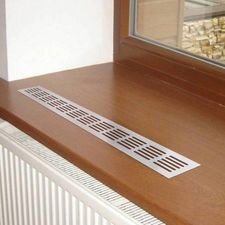 Вентиляционные решетки для подоконников, отверстия для вентиляции, приточный клапан под подоконник