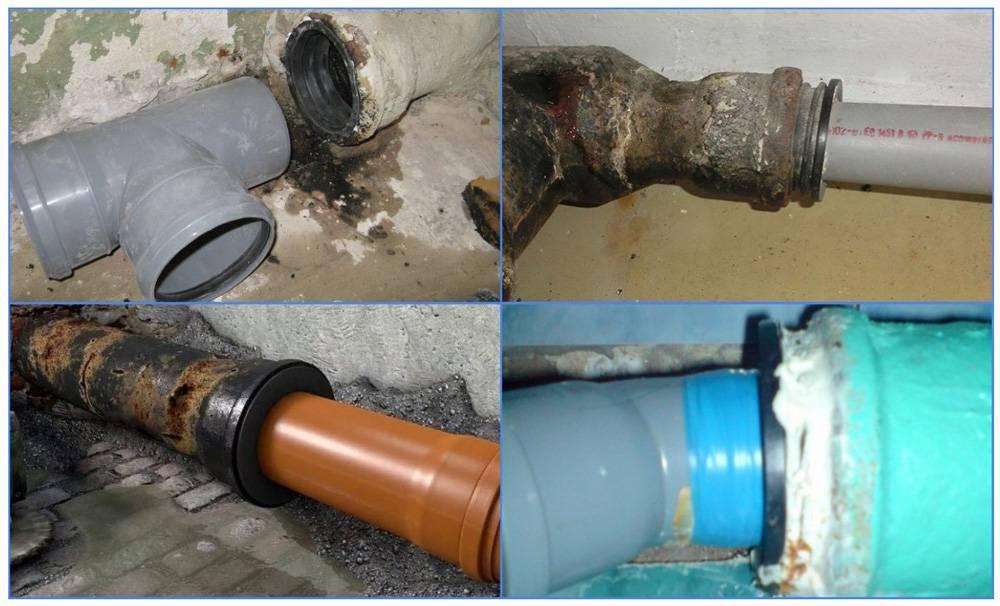Как соединить чугунную канализационную трубу с пластиковой – фитинги, переходы, другие варианты соединения