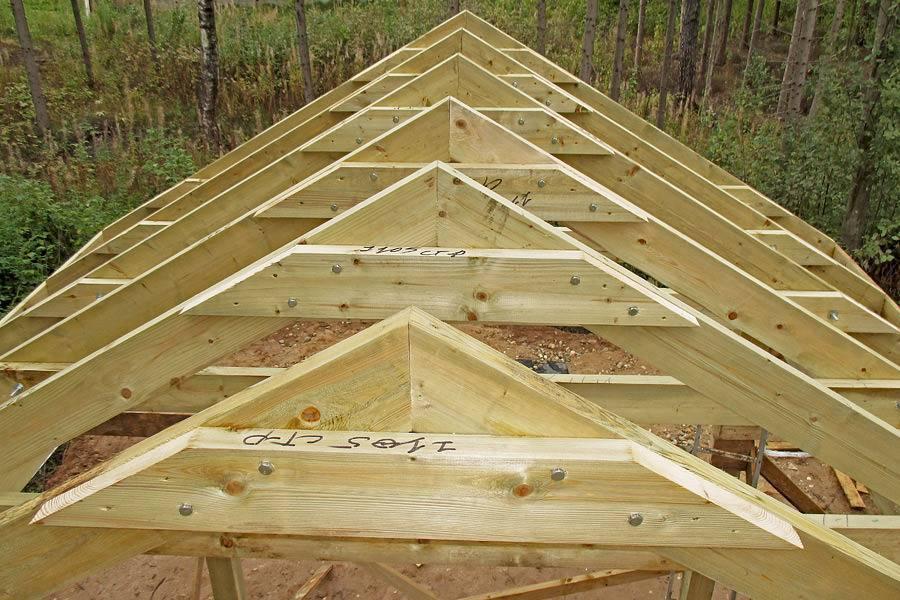 Двускатная крыша дома своими руками расчет
