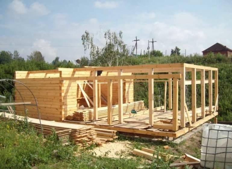 Технология строительства домов из профилированного бруса