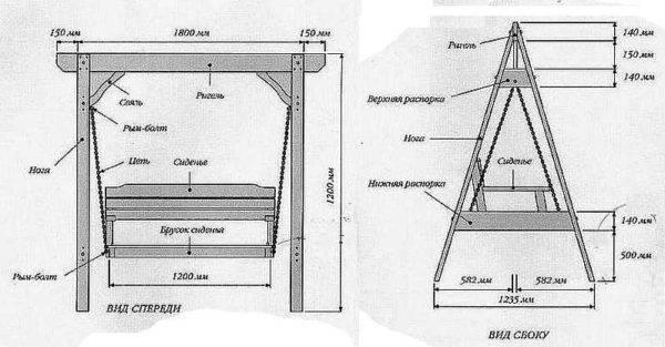 Как сделать металлические качели на даче своими руками