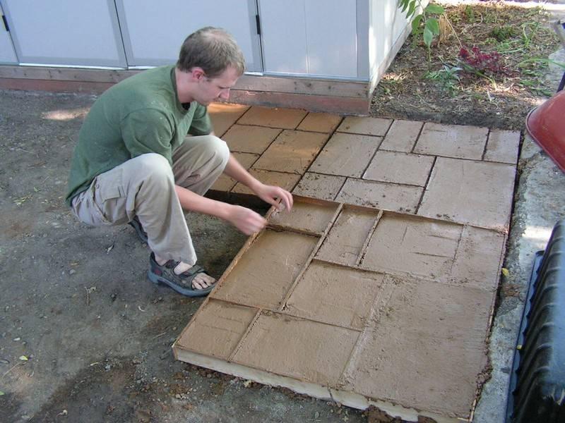 Тротуарная плитка своими руками — изготовление, отливка и укладка тротуарной плитки (105 фото и видео)