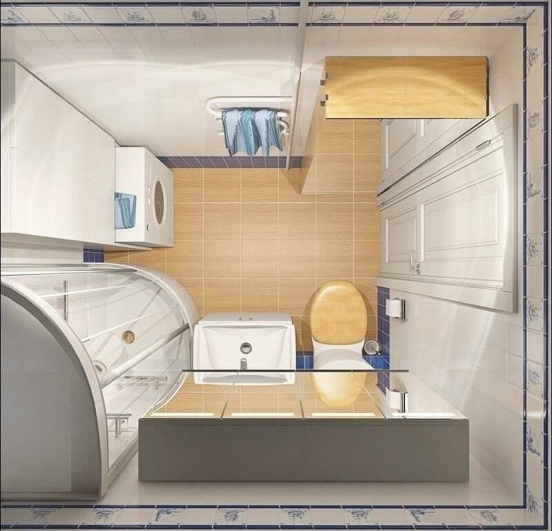 Дизайн ванной комнаты 3 кв. м: 53 фото с туалетом и стиральной машиной