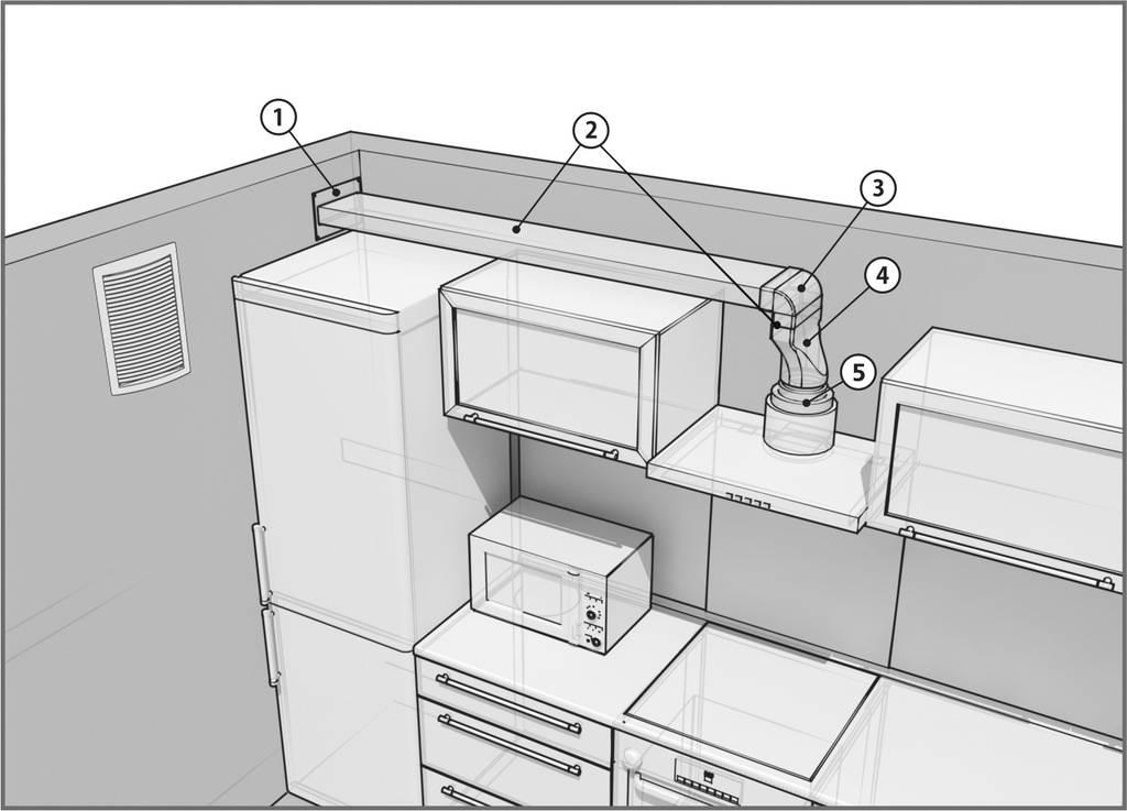 Как установить воздуховод для вытяжки на кухне