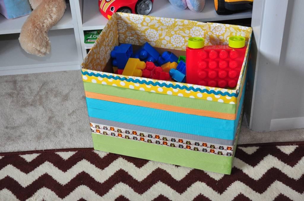 Как сделать ящик для хранения игрушек своими руками