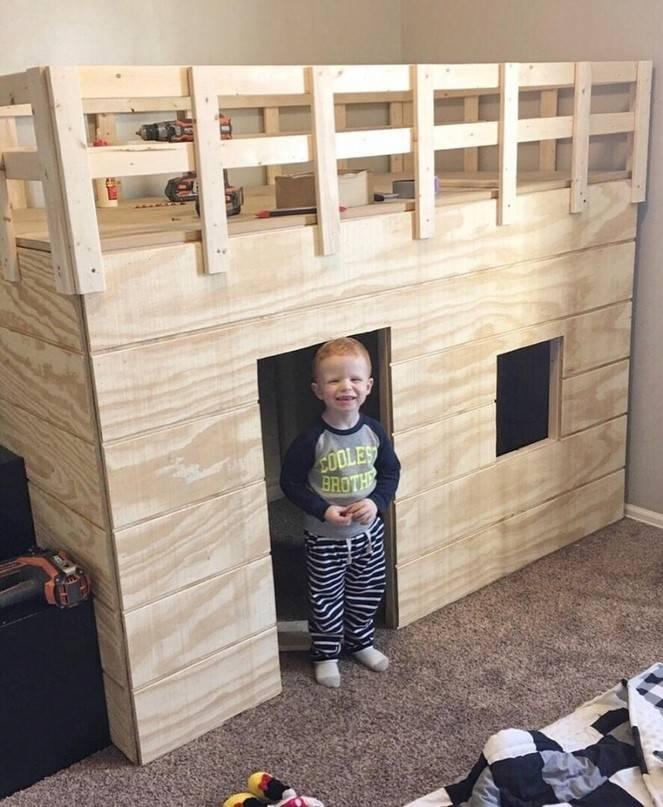 Детский домик своими руками: фото, схема, чертежи, видео детский домик своими руками: фото, схема, чертежи, видео