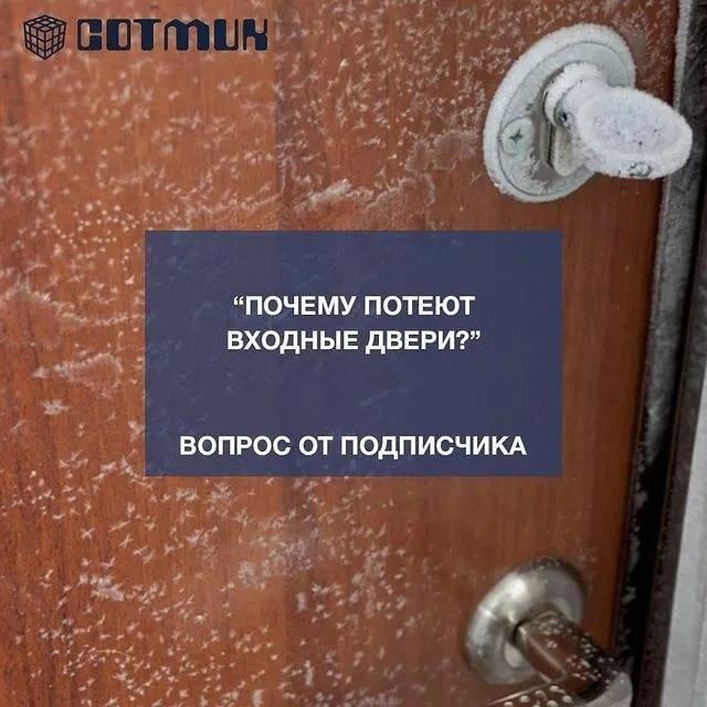 Почему потеет и промерзает входная дверь. что делать?