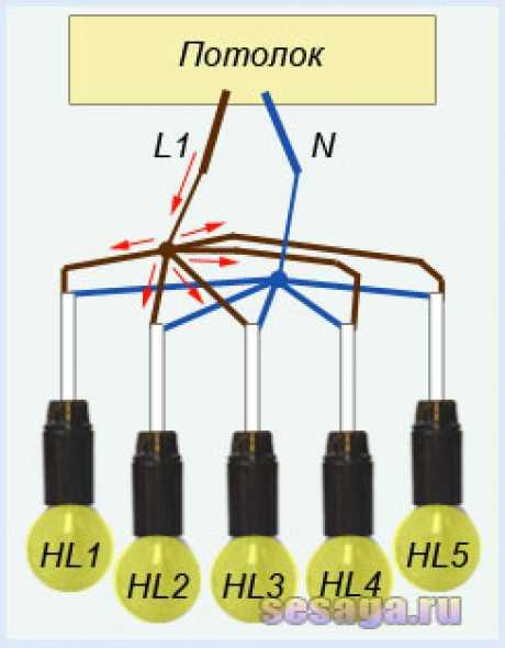 Как подключить люстру с 2, 3, 4 и более проводами своими руками?
