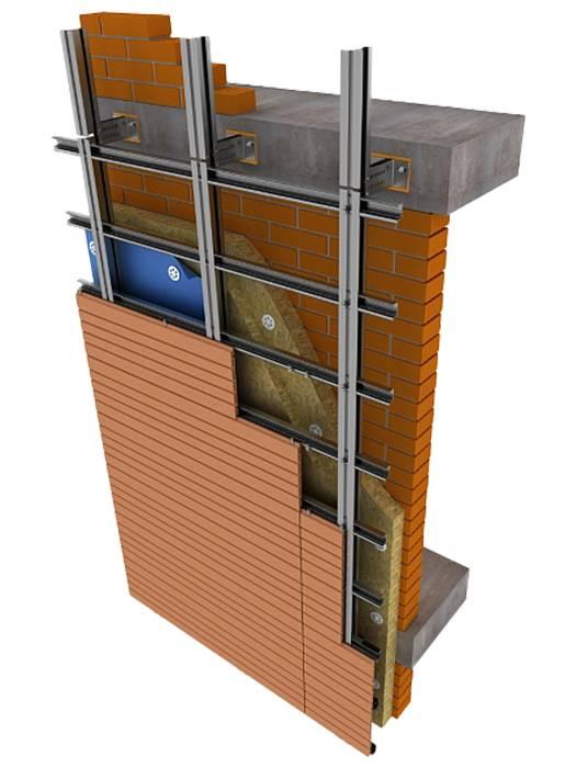 Особенности монтажа подсистем вентилируемых фасадов