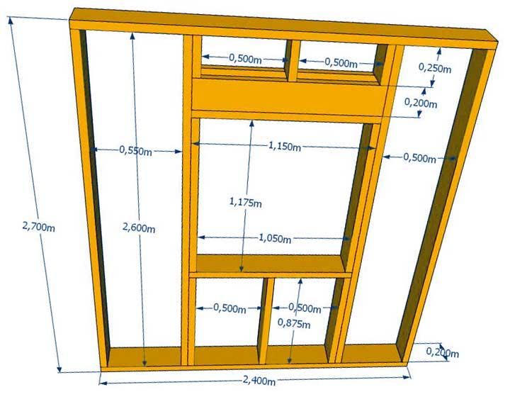 Как сделать оконный и дверной проем в каркасной стене