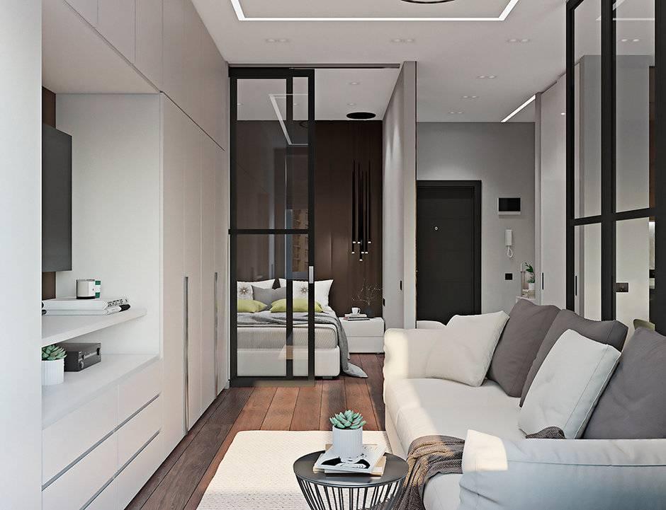 Дизайн однокомнатной квартиры 36 кв. м (28 фото): бюджетный современный проект
